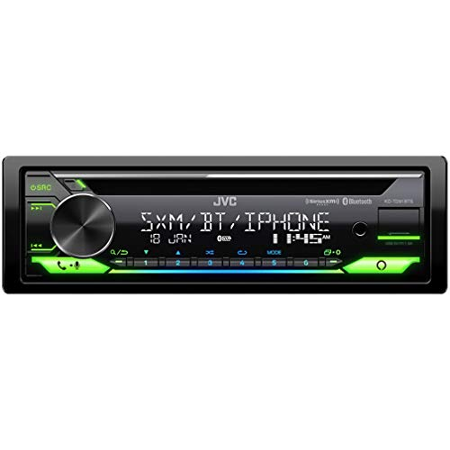 JVC KD-TD91BTS Bluetooth Car Stereo Receiver with USB Port – 2-Line LCD Display, AM/FM Radio – CD and MP3 Player - Amazon Alexa Enabled – Single DIN - 13-Band EQ (Black)