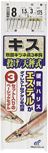 ハヤブサ(Hayabusa) 投げキス天秤式 秋田キツネ茶3本鈎 9-1.5 NT661-9-1.5