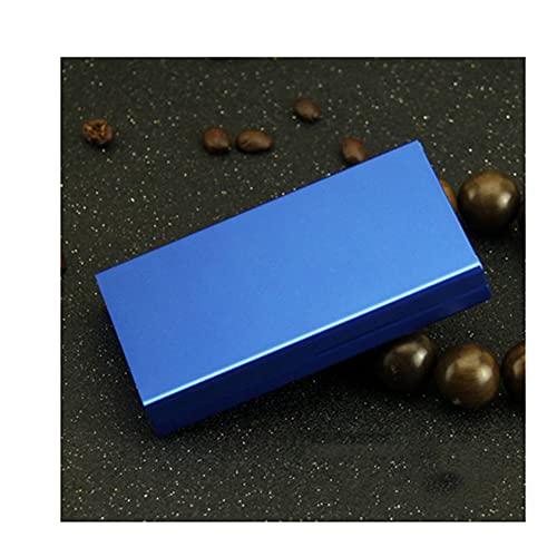 LZWH Caja de cigarrillos de aleación de aluminio con tapa automática para hombres y mujeres, puede contener 20 cigarrillos [tamaño: 106 x 60 x 16 mm] (color: I)