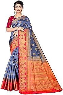 Neerav Exports Banarasi Soft Silk With Rich Pallu Traditional Jacquard Saree (Blue)