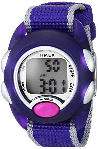 Timex Kids TW2R99100 Time Machines Digital Purple Fabric Strap Watch