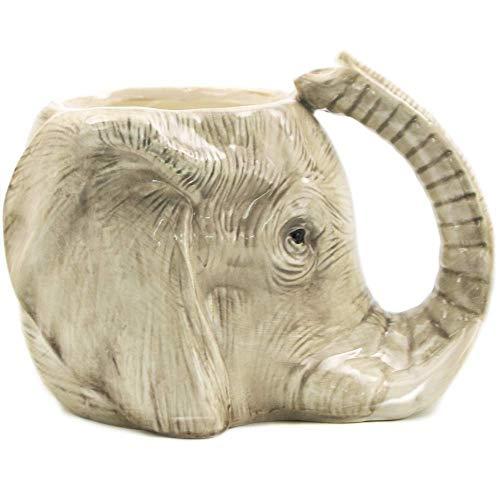Taza de café de Animales Salvajes de 1 Pieza Taza de Elefante Salvaje Aventura 3D Taza de Elefante Taza de cerámica de Elefante Taza de Oficina Adorable