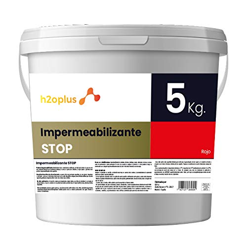 Revestimiento Elástico Impermeabilizante Stop · Pintura Impermeabilizante Terrazas y Azoteas · Producto Natural 100% en Base Agua, SIN Olor a Disolventes Químicos · Rojo Teja · 5 Kg (4,15 L)