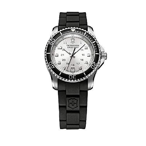 Victorinox Maverick GS Silver Dial Silicone Strap Ladies Watch 249048XG (Renewed)