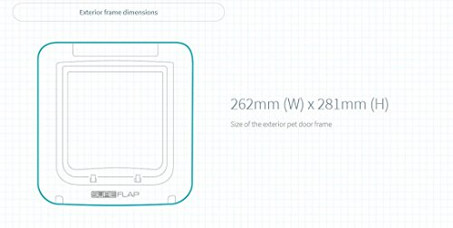 SureFlap Mikrochip Haustierklappe mit Zeitschaltuhr - 7