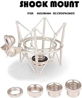 Microphone Shock Mount for Neumann U87 U89i TLM127 TLM170 M150 TLM193 D01 M147 Recording Studio Pro Audio Suspension Holder Whole Metal (Sliver)