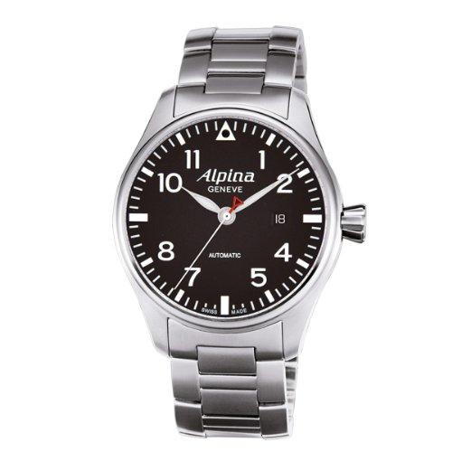 Alpina–XL Start imer Pilot Automatic–Reloj de Pulsera analógico automático para Hombre Acero Inoxidable 525b3s6b