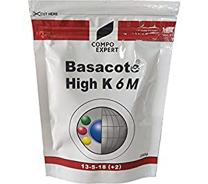 BASACOTE® HIGH K 6M (from Germany) 6 Months Slow Release NPK Fertilizer 13-15-18 + Micronutrients/Plant Feed for Home Plants - Indoor and Outdoor - 250g