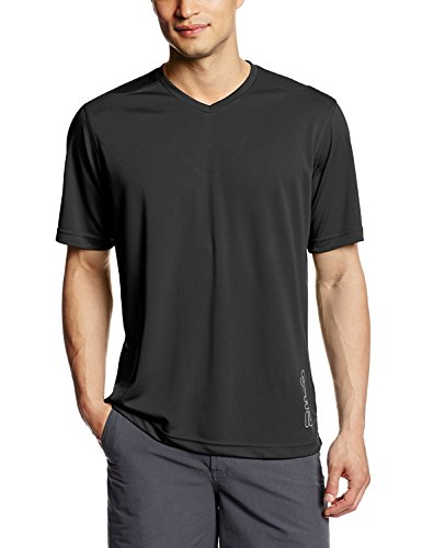 FILA Tennis Men V-Ausschnitt Big Logo Top, Herren, schwarz, XX-Large
