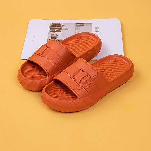 XZDNYDHGX Zapatos De Playa Y Piscina,Zapatillas Mujer Hombre Casual Diapositivas para el hogar, Playa Zapatillas Suaves Zapatos de baño Antideslizantes Caramelo EU 41-42