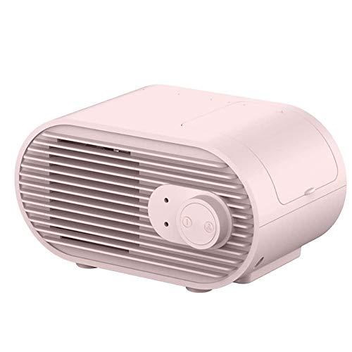 GFDFD Mini USB portátil Recargable Aire Acondicionado refrigerado por Agua Ventilador de Escritorio Ventilador de refrigeración humidificador purificador para Oficina (Color : Pink)