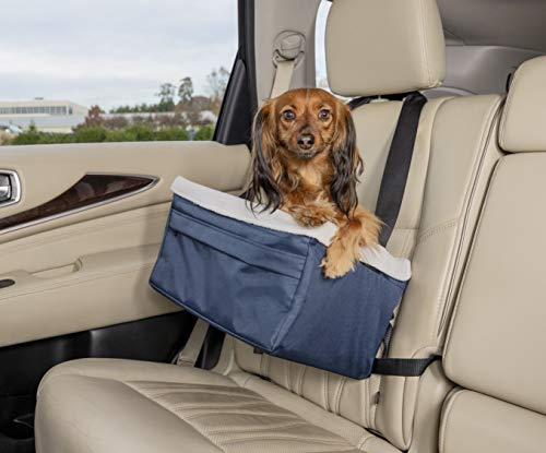 PetSafe Solvit Booster Seat - Pet Booster Seat for Cars, Trucks, SUVs - Medium, Navy