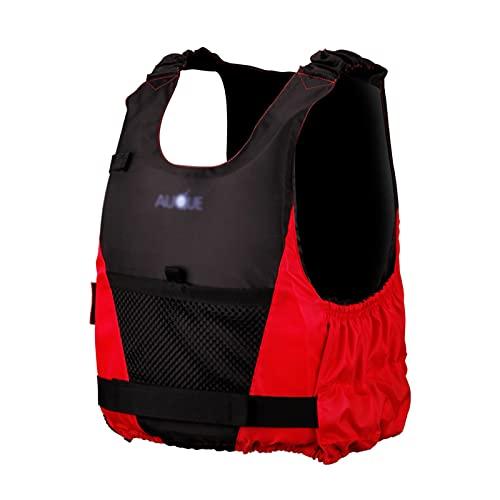 X/L Chaleco de Natación, Ayuda a la Flotabilidad Chaleco Salvavidas Inflable del Principiante de Deportes Acuáticos Surf Buceo Rafting Canotaje Chaqueta Flotante para Adultos(Size:Pequeña,Color:Rojo)