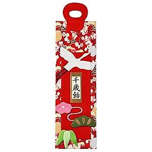 [京のみやび]千歳飴袋 鶴 赤 大