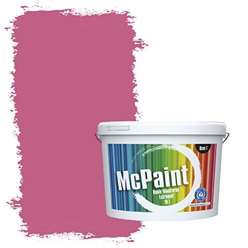 McPaint Bunte Wandfarbe extramatt für Innen Pink - 5 Liter - Weitere Violette Farbtöne Erhältlich - Weitere Größen Verfügbar