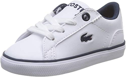 Lacoste Dziecięce buty sportowe Lerond Bl 2 Cui Unisex, Biały biały granatowy 042-24 EU
