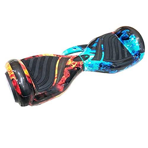6'5 Polegadas Hoverboard Skate Electrico Scooter Infantil Bluetooth Led Bateria Luuk Young (Gelo Fogo Alca)