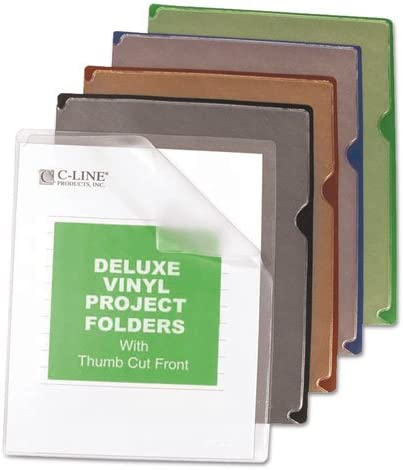 Deluxe Be super welcome Project Jacket Folders Limited time sale Letter Blue Black G Vinyl Clear