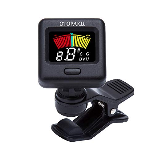 Clip-On Tuner for Guitar Bass Ukulele Violin Chromatic Tuning Modes