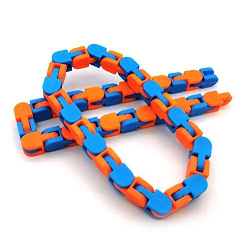 DKaony Bike Chain Fidget Toy 24 nudos cadena de descompresión juguete divertido juguete antiestrés juguete para adultos niños