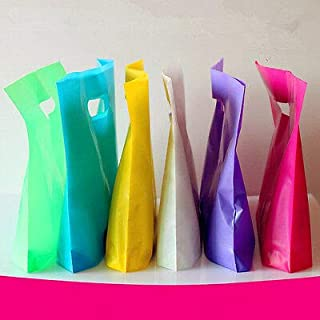 FidgetGear 50pcs Plastic Shopping Carrier Bags Merchandise Bags Pure Color for T-Shirt Bag Blue 33 * 26+4
