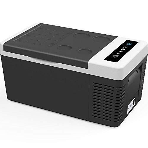 F40C4TMP 車載冷蔵庫 18L -22℃~10℃ 2WAY電源対応 車載冷蔵冷凍庫 12V 24V ポータブル冷蔵庫 静音 AC/DC 家...
