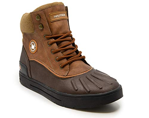 Nautica Mens Padden Waterproof Snow, Lace-Up Insulated Duck Boot-Brown/Tan-9