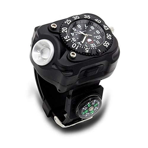 Survivencia de brújula La luz LED reloj de compás que acampa recargable RELOJ variable de salida de alta resistencia del reloj