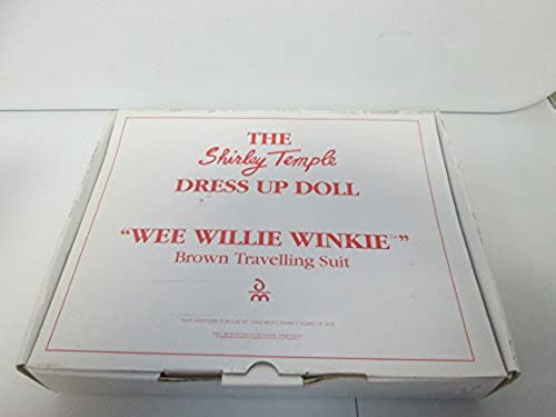 1996 The Shirley Temple Dress Up Doll Wee Willie Winkie braun Travelling Suit