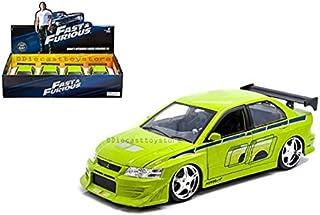 DIECAST 1:24 Display - Fast & Furious - Brian`s Mitsubishi Lancer Evolution VII (Green) 99794 by Jada