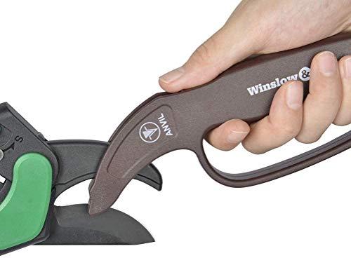 Winslow&Ross Professional Anvil Pruner Sharpener - Easy Quick Durable Scissors Blade for Garden Tool Anvil Pruning Shears