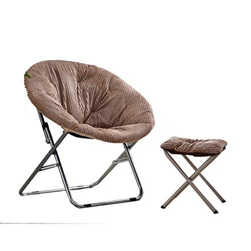 DS-chaise Chaise et Repose-Pieds Paresseux - Chaise de Lune Pliante canapé Paresseux Chaise Pliante épaisse/Lavable && (Couleur : A)