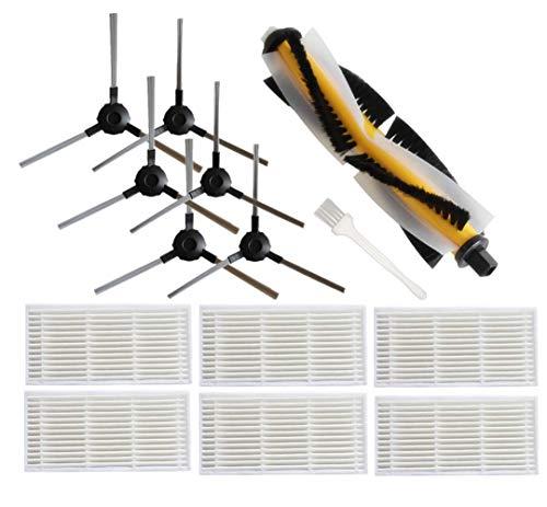 Ersatzteile Kompatibel mit Proscenic 790T, Zubehörset - 6 Filters Hepa + 6 Seitenbürsten + 1 Hauptbürste + 1Reinigungsbürste