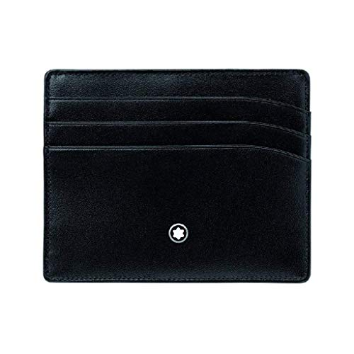 Montblanc 106653 Meisterstuck 6cc Wallet Pocket Card Holder Black