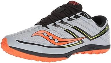 Saucony Women's Kilkenny XC7 Flat Track Shoe, Grey/Black/Orange, 7