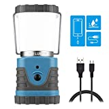Nurch LED Camping Lantern Rechargeable USB, Outdoor Portable Lanterns with 500LM, 3 Modes, 4400mAh Power Bank, Waterproof LED Lantern Flashlight Survival Kits for Hurricane, Camping, Hiking, Outages