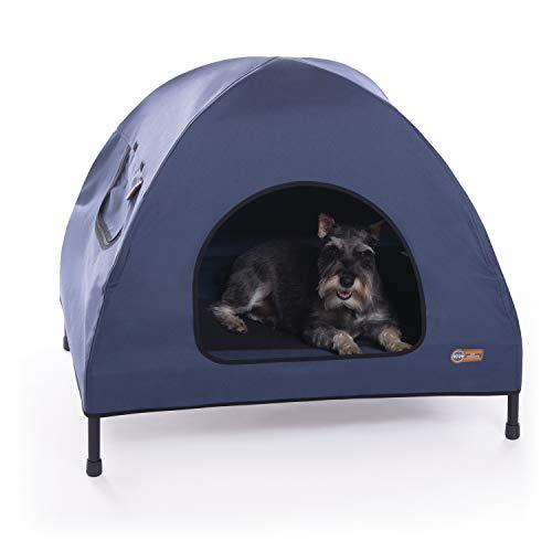 K&H Pet Products Original Pet Cot House Medium Navy Blue - Indoor & Outdoor Elevated Pet Bed & Shelter (25' x 32' x 28')