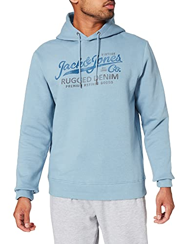 JACK & JONES JPRBLUBOOSTER Sweat Hood July 2021 Sweatshirt Capuche, Bleu Jeans Clair, XL Homme
