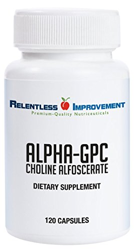Relentless Improvement Alpha GPC 120 Capsules No Fillers No Soy