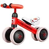 Mini Four-Wheel Balance Car Kein Pedal Sliding Toy Car Toddler Baby Baby Balance Bike Puzzle Übung Spielzeug Vier-Wheeler,Red