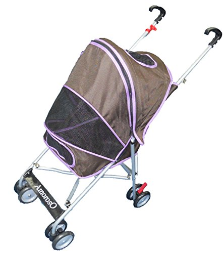 AmorosO Pet Stroller 4.5 by 8 Inch Wheel