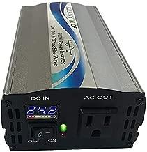 KRXNY 500W Power Inverter 24V DC to 110V 120V AC 60HZ Pure Sine Wave Converter with LED Display US Output Socket