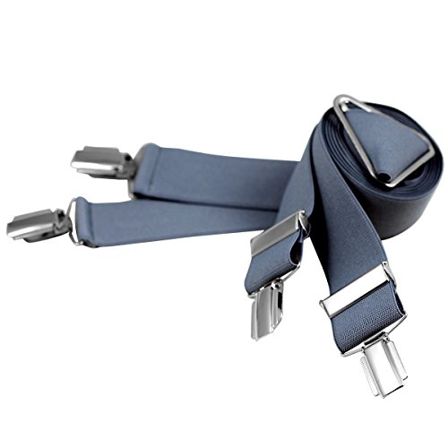 Lindenmann Mens Braces/Suspenders/mens suspenders, X-shape, 30 mm stetch, XXL, dark grey, 9157-018, Größe/Size:110