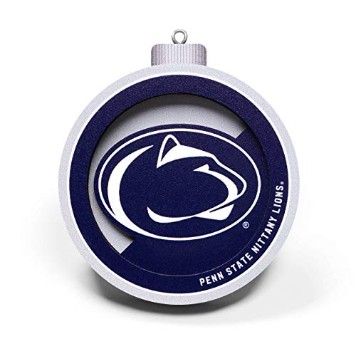 YouTheFan NCAA Penn State Nittany Lions 3D Logo Series Ornament