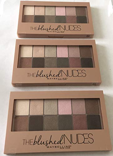 3x Maybelline The Blushed Nudes Palette