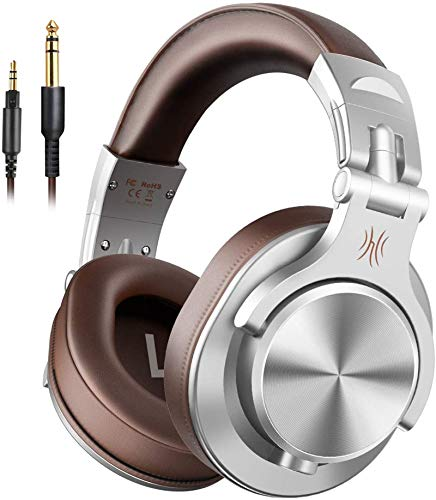OneOdio Kopfhörer Over Ear, DJ Kopfhörer mit Share Port, Professionell Studiokopfhörer für AMP Recording und Monitoring 6,3mm & 3,5 Klinke Adapter-frei Geschlossener HiFi Kopfhörer mit Kabel