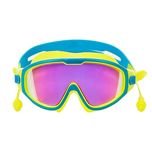 Peakfeng Niños Natación Gafas Gafas Niños Niños Earpplug Boy Muchacha Traje de baño Cajas de Gafas Niños Nadar Piscina Gafas Anti Niebla UV Equipo de Buceo de protección (Color : Sky Blue)