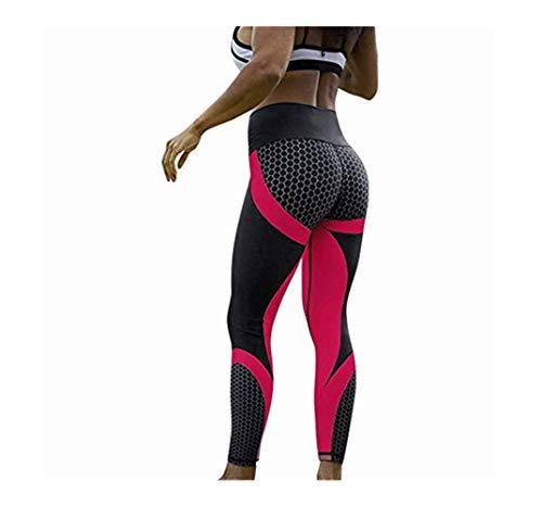 Yogahosen Trainieren Damen Tennishose Golfhose FußBallhose Fitnesshose Lange Laufhose 3D Wabe Drucken Tanzstrumpfhose Gymnastikhose Leggings Overalls Sporthose Strumpfhose Homewear