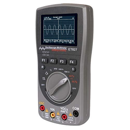 Ironhorse ET827 - Multímetro portátil 2 en 1, osciloscopio digital, medición inteligente, 200 Msps, 200 MS/S, frecuencia de muestreo de 40 MHz de ancho de banda