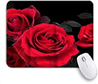 VAMIX マウスパッド 個性的 おしゃれ 柔軟 かわいい ゴム製裏面 ゲーミングマウスパッド PC ノートパソコン オフィス用 デスクマット 滑り止め 耐久性が良い おもしろいパターン (バラの花)